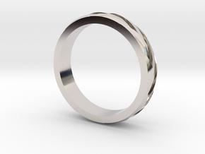 "Ring ""Profil"" in Rhodium Plated Brass"