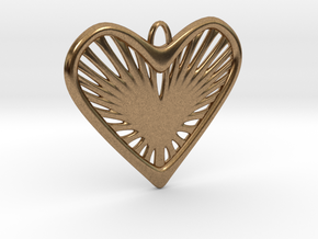 Heart Strings in Natural Brass