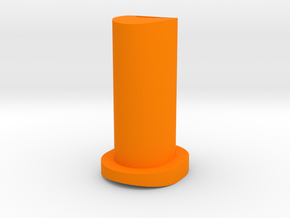 GF5 Plus 10 Caster Insert (Orange) in Orange Processed Versatile Plastic