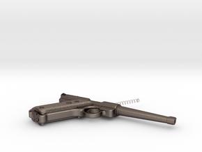 Rugger gun in Polished Bronzed Silver Steel
