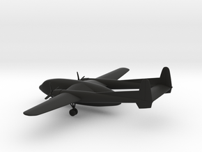 Fairchild C-119 Airplane in Black Strong & Flexible: 1:285 - 6mm