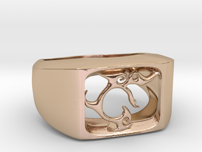 Segunda - The One Ring in 14k Rose Gold Plated Brass