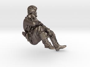 Soviet Tank Crewman in Polished Bronzed Silver Steel: 1:16