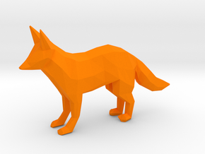 Red Fox in Orange Processed Versatile Plastic
