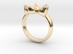 Kanzashi Ring in 14K Yellow Gold: 4 / 46.5