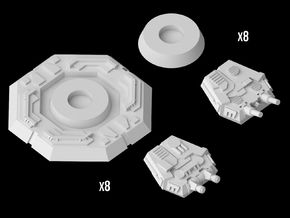 (Armada) Imperial Turrets Set in Frosted Ultra Detail