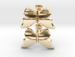 Butterfly Cufflinks 1 in 14k Gold Plated Brass