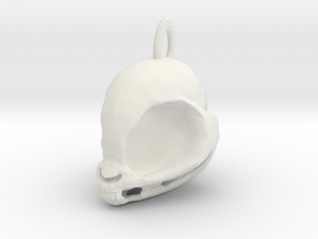 My Little Pony Skull! (Necklace charm) in White Natural Versatile Plastic