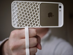 fotoGrip for iPhone 5/5s in White Natural Versatile Plastic