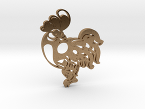 Chinese Symbol in Natural Brass
