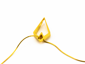 HIDDEN HEART Airy, Pendant. Sharp Chic in 18K Gold Plated