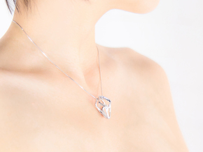 HEAD TO HEAD Unic S, Pendant in Rhodium Plated Brass