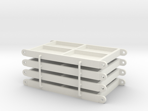 Outrigger Base plate 60x40mm in White Natural Versatile Plastic