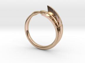 Arrow Ring in 14k Rose Gold Plated Brass: 5.5 / 50.25