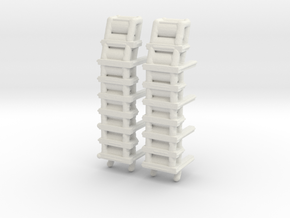 1/306 Scale DC Racks in White Strong & Flexible