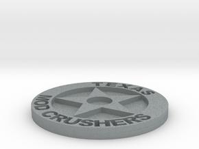 TMC Badge 1.5 Inch in Polished Metallic Plastic