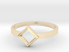 Top Square Ring  in 14k Gold Plated Brass: 5.5 / 50.25