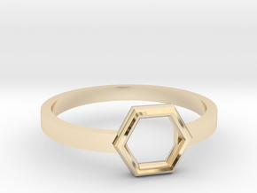 Octagonal Ring in 14k Gold Plated Brass: 6 / 51.5