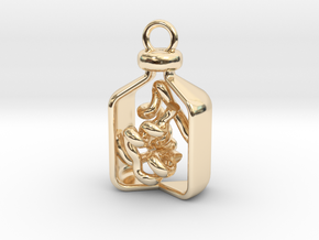 Vial of Insulin Charm - A treatment, not a cure. in 14k Gold Plated Brass