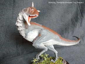 Carnotaurus (Medium / Large size) in White Natural Versatile Plastic: Medium