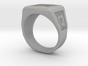 Ft. Lewis Manchus Square Ring in Aluminum