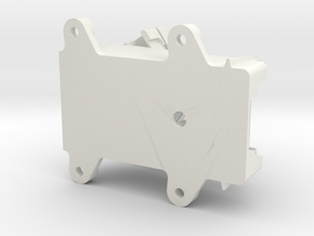 FrSky X8R Receiver Antenna Mount 4-Holes in White Natural Versatile Plastic