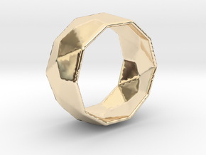 Octagonal Ring in 14k Gold Plated: 5.5 / 50.25