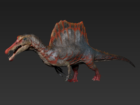 Spinosaurus concept.04(15inch) in White Strong & Flexible