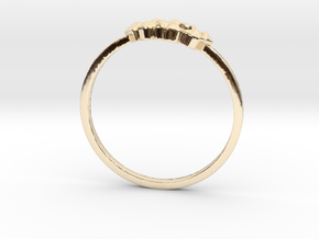 Crystallized Ring (all size 4-13) in 14k Gold Plated Brass: 4 / 46.5