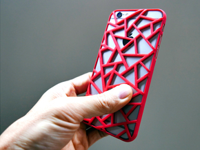 iPhone6 / 6s case_Triangles in Red Strong & Flexible Polished