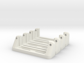 Servoholder-24mm-1-4pieces in White Strong & Flexible