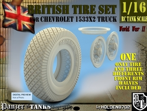 1-16 Chevy LRDG Sample Tire And Rims For FUD in Smooth Fine Detail Plastic