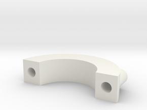 Gun Clip P1.1 in White Natural Versatile Plastic