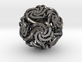 Dodecahedron W-Spirals 2.0inch in Polished Nickel Steel