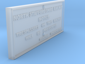 EP725 NSR Trespass Sign in Frosted Ultra Detail