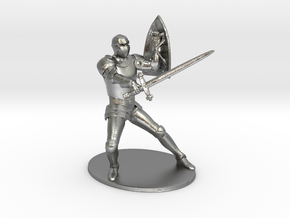 Paladin Miniature in Natural Silver: 1:60.96