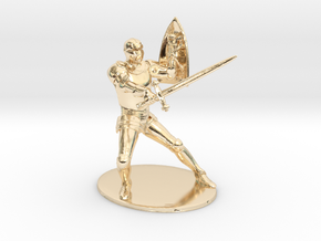 Paladin Miniature in 14K Yellow Gold: 1:60.96