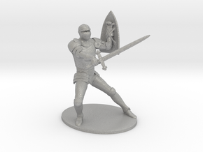 Paladin Miniature in Raw Aluminum: 1:60.96