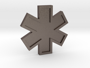 EMS Star of Life in Polished Bronzed Silver Steel