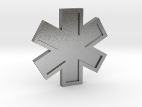 EMS Star of Life in Natural Silver