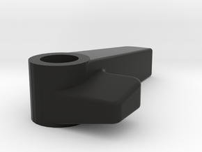 Knob-v09 Single Countersink in Black Natural Versatile Plastic