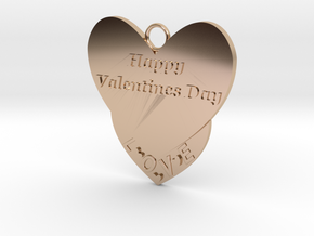 Valentine's Day Pendant in 14k Rose Gold Plated Brass