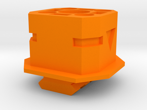 TeleScopix to Nerf Shoulder Stock Adapter in Orange Processed Versatile Plastic