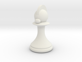 Pawns with Hats - Knight in White Strong & Flexible