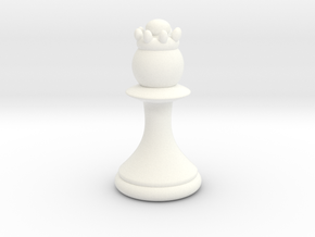 Pawns with Hats - Queen in White Strong & Flexible Polished