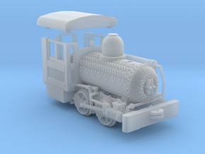 """HO Scale - 40.5"""" Gauge Compressed Air Porter 0-4-0 in Smooth Fine Detail Plastic"""