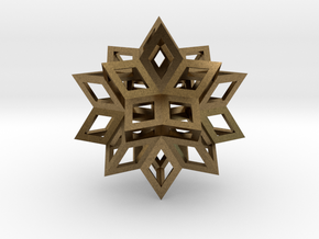 Rhombic Hexecontahedron Precious Metals in Natural Bronze