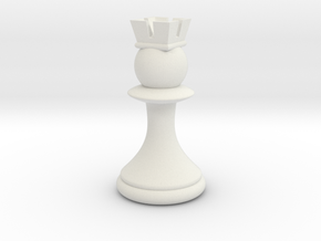 Pawns with Hats - Rook in White Natural Versatile Plastic: Small