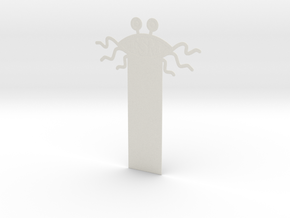 FSM Bookmark in White Natural Versatile Plastic