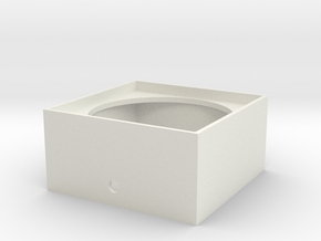 "1.56"" Dia. Speaker Enclosure S Scale 1/64 in White Natural Versatile Plastic"